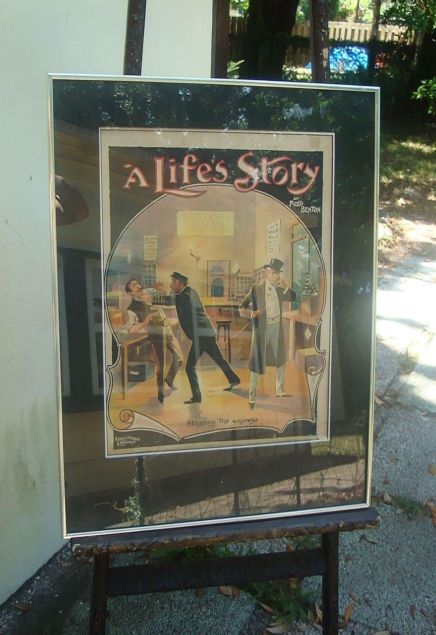 "Early English Silent Film Poster  ""A Life's Story"""