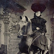 Tintype photo of Annie Oakley