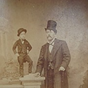 Scarce CDV Photo of Major Tot Dwarf Circus Freak