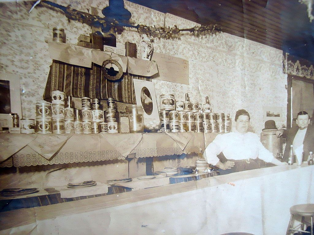 c.1900 Vinita,Oklahoma Bar Photo with Ernest Wickland