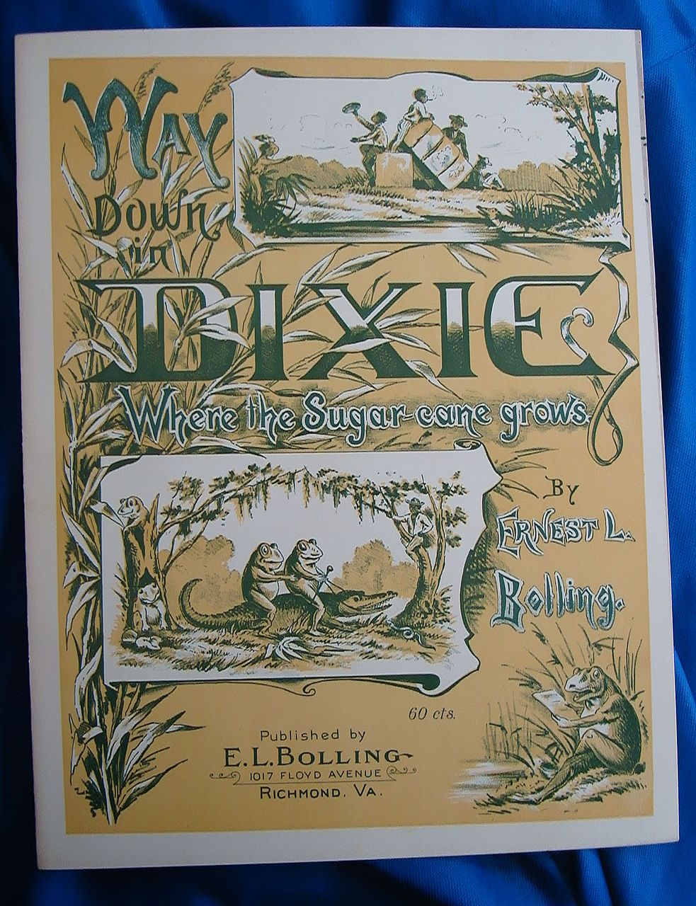 1905 Way Down in Dixie Sheet Music