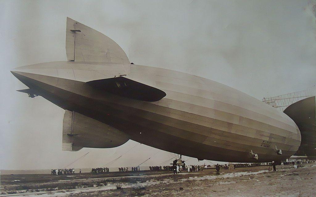Graf Zeppelin Dirigible at Lakehurst,New Jersey