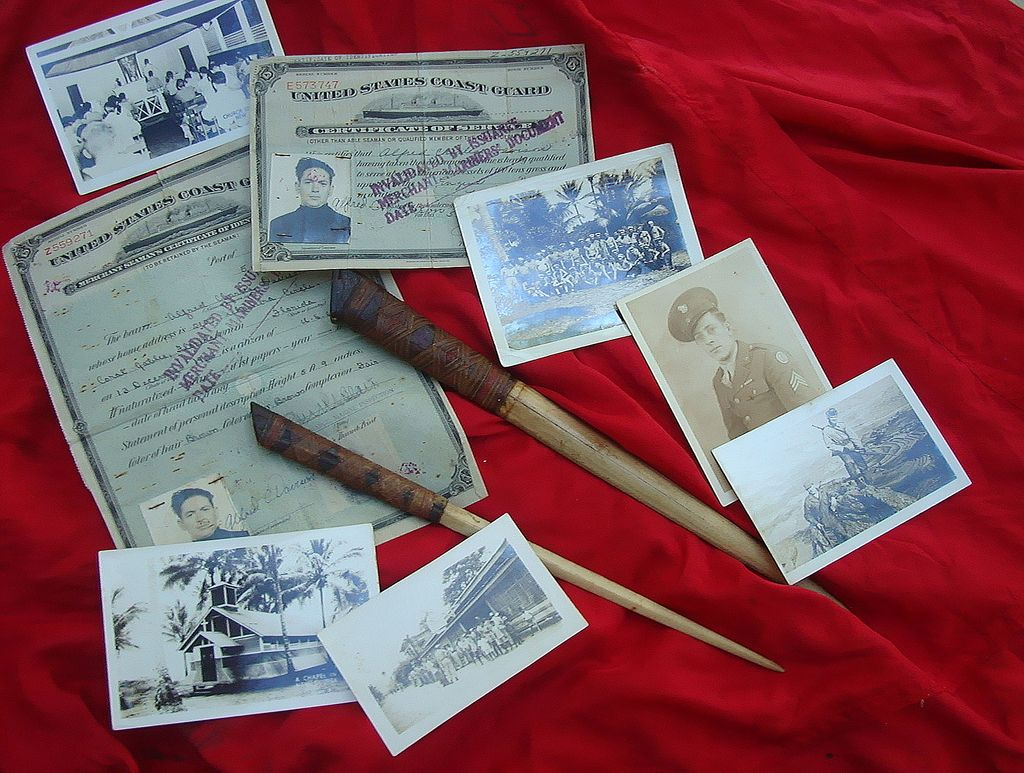 World War 2 New Guinea Archive from Jungle Warrior w/ Bizarre Weapons