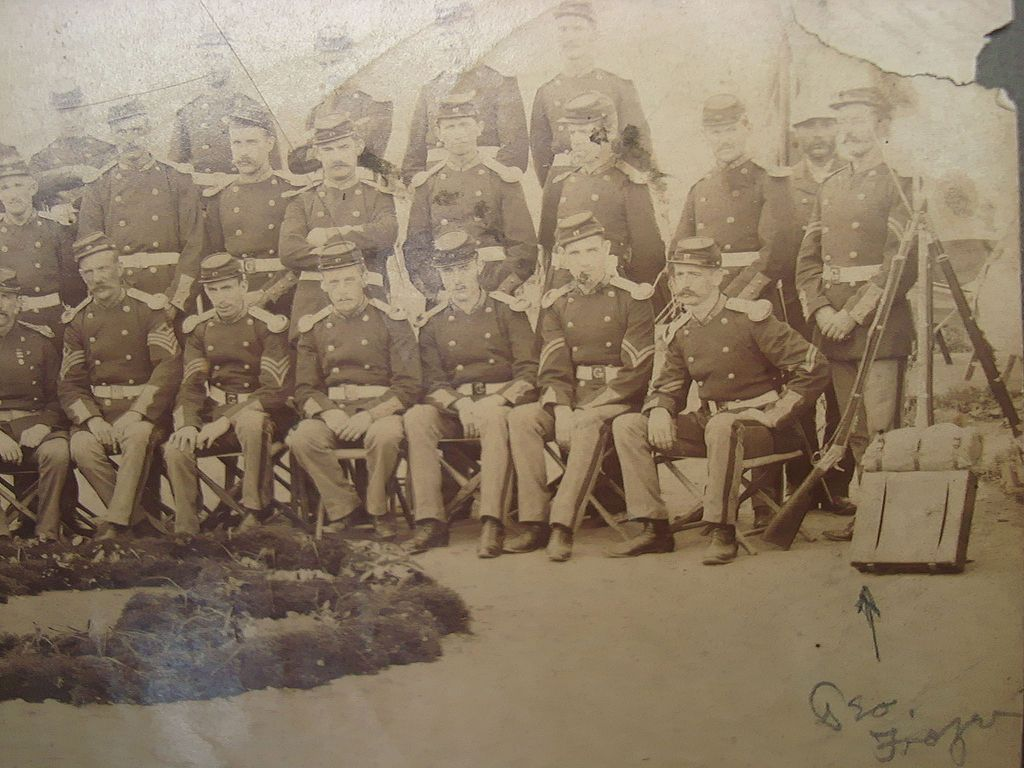 Indian Wars Unit Group Photo South Dakota 1870's Medal of Honor