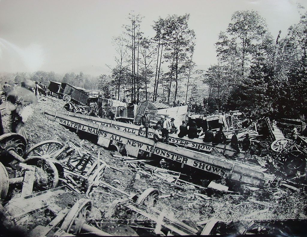 Original Photos of Walter L.Main's Circus Monster Show Train Wreck Tyrone,Pa 1893