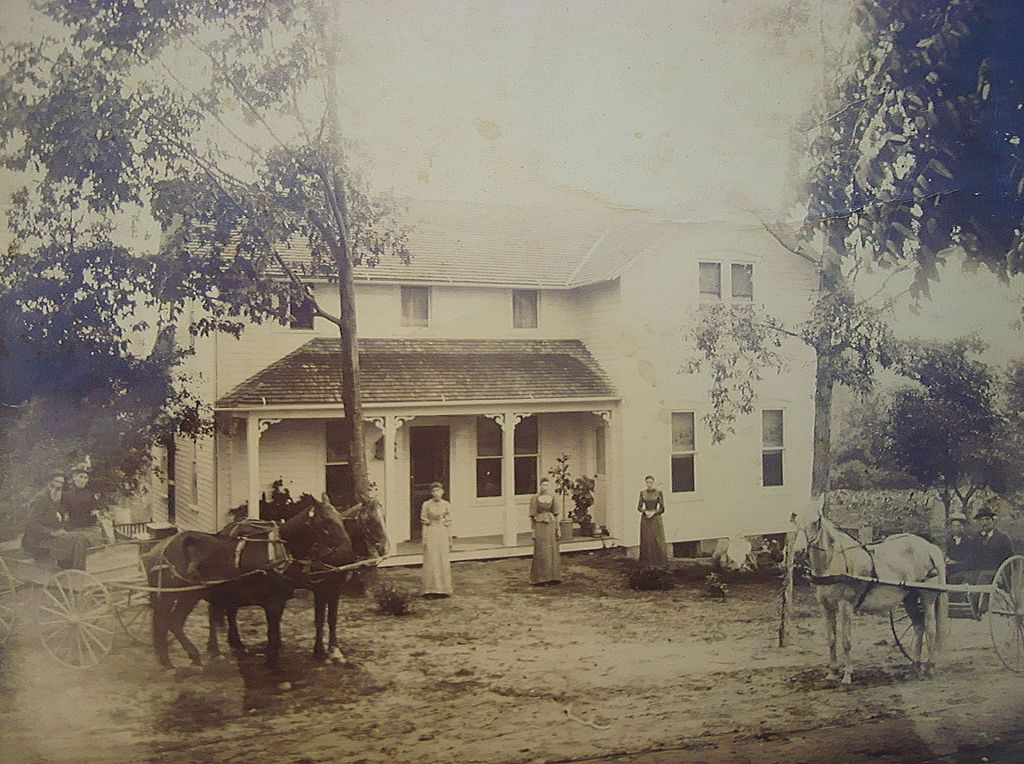 1880's Photo of John B.Rogers,Company Family Farm in New Jersey