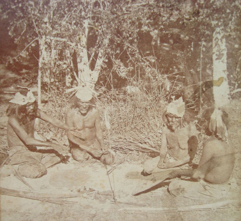 1870 Stereoview Indians of The Colorado Valley Old Gamblers