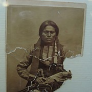 Civil War Carte deVistie CDV Photo of Armed Chiricahua Apache Warrior