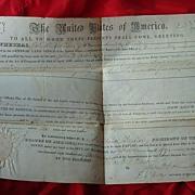 1852 Millard Fillmore John W.Robinson Florida Land Grant