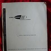 Early Nasa Space Digital Mathematics Computer Manual