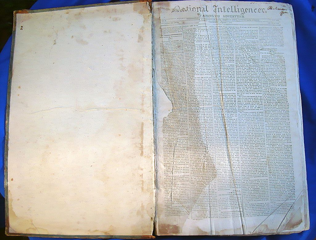 1810-1811 Washington Intelligencer Newspaper Bound Volume
