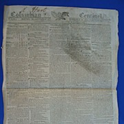 1813 Columbian Centinal Newspaper~General Harrison Attacks Brits in Canada
