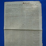 New England Palladium Newspaper June 12 1812 ~Boston Citizens Told to Arm Themselves !
