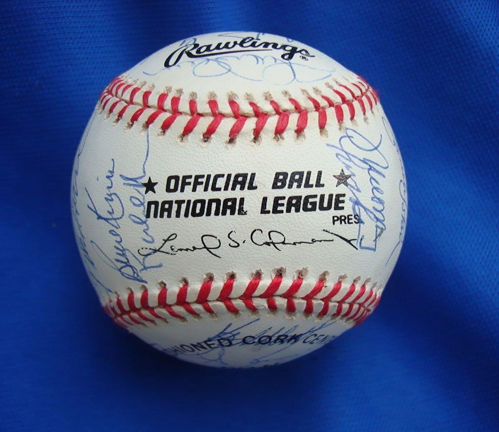 1993 & 1997 Florida Marlins Team Signed Baseball's World Champions