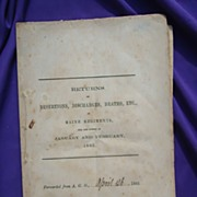 Civil War State of Maine Brochure for Desertions,Discharges and Deaths
