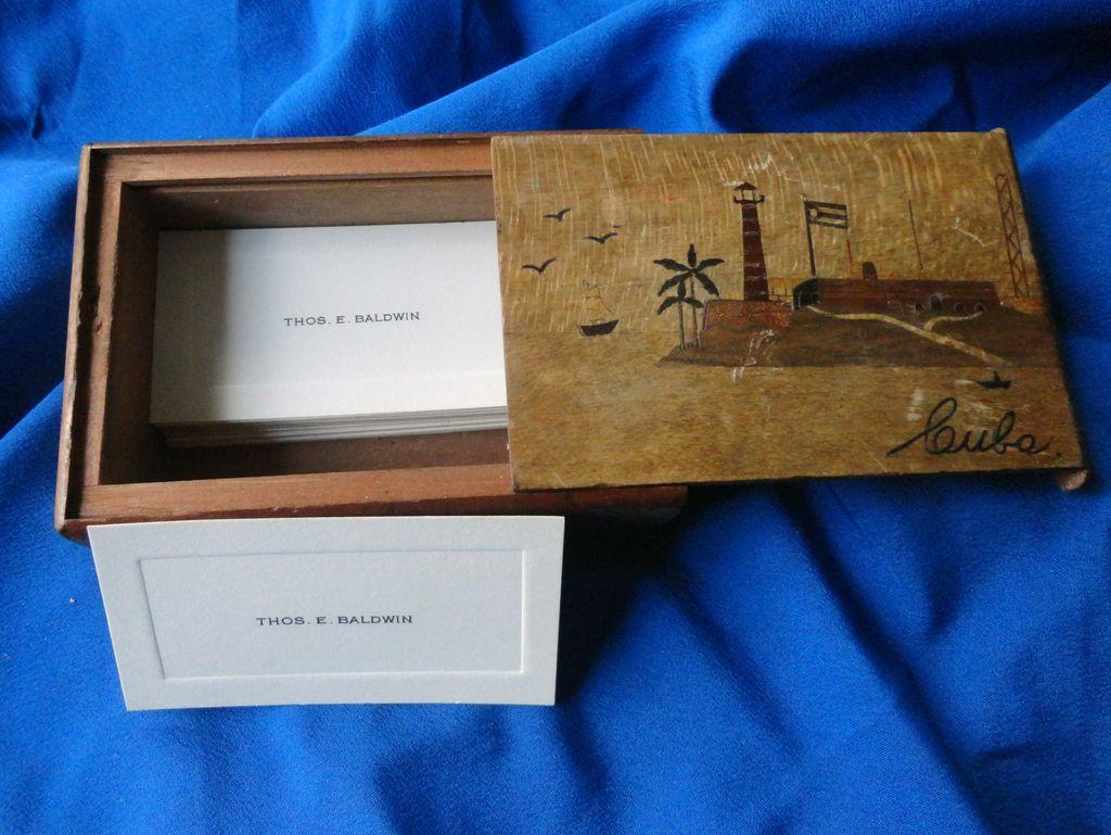 Folk Art 1940's Cuba Secret hand made Box. Thomas Baldwin