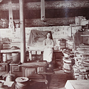 Surreal Alaska Logging Interior Camp Photograph from 1915