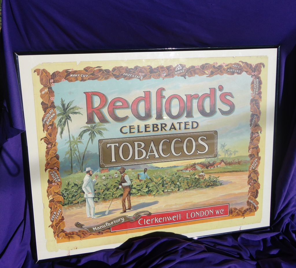 1905 Redford's Celebrated Tobacco Poster