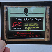 1905 Advertising Theatre Slide Robert Vestal Shoes The Doctor Say's The Doctor Shoe For Men