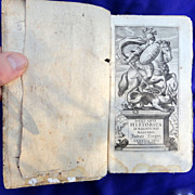 Antique 1655 Book Dell 'arte Historica History of the Renaissance