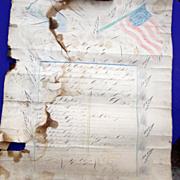 Confederate Civil War Fraktur William P.Testerman Hancock County,Tn.