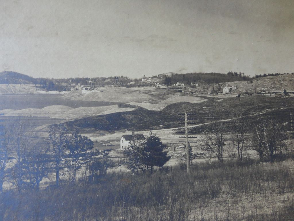 1895 Photo of Metropolitan  Dam Wachusett Reservoir being Built Clinton & Boylston Mass