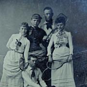 Martha's Vineyard Tintype of Tennis Players