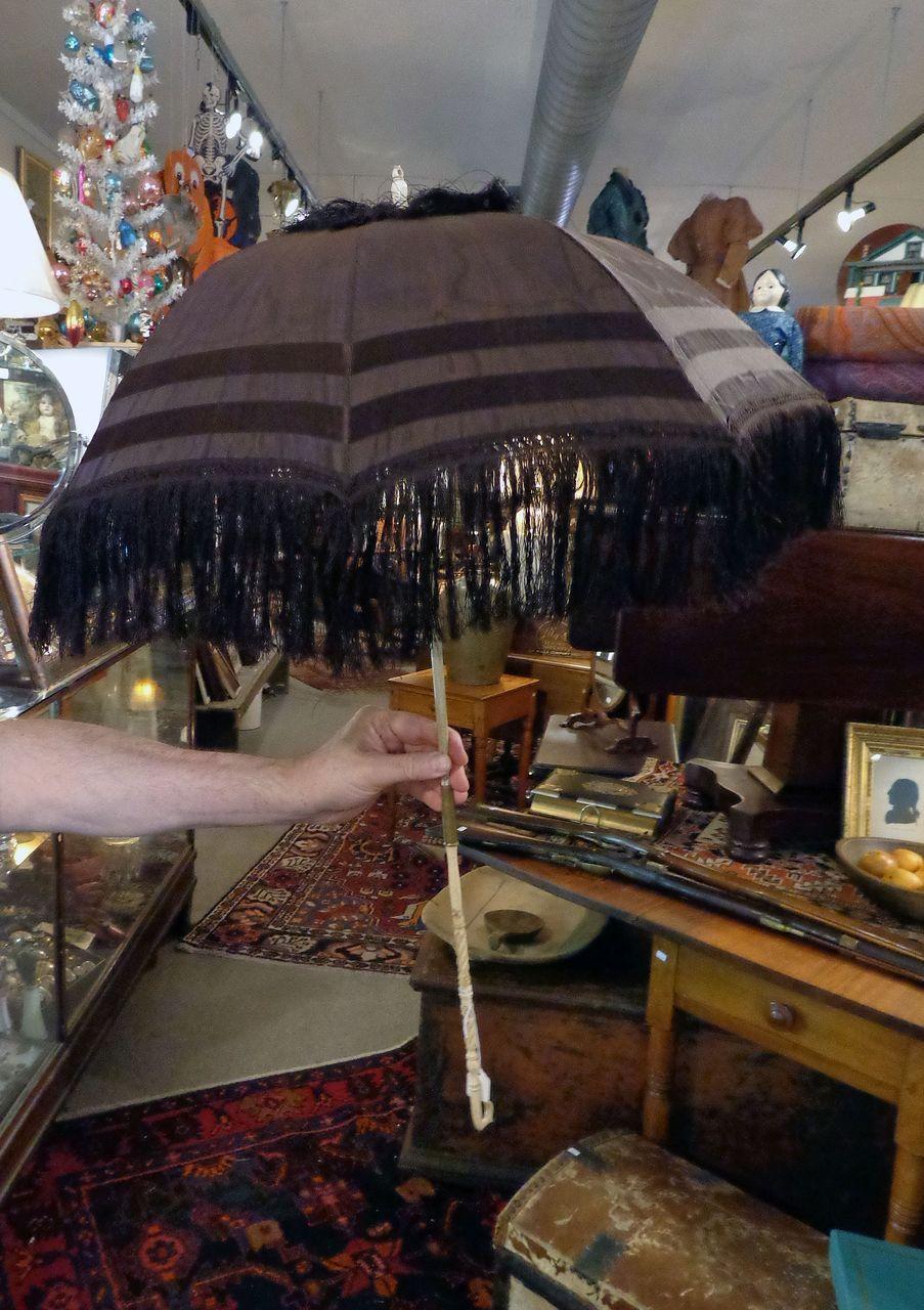 MUSEUM QUALITY Great Condition c.1860 Victorian Parasol Umbrella