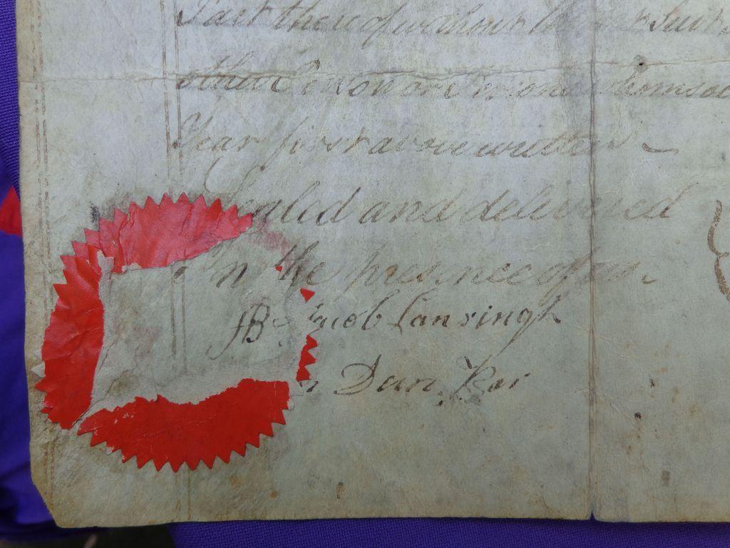 1768 Albany,New York Indenture Goose Van Schaick & TenBroeck Families