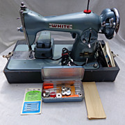 Sewing Machine with EVERYTHING White Model 658 & Supplies