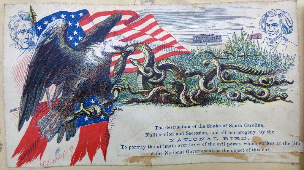Civil War Illustrated Colorful Patriotic Cover Andrew Jackson & John Calhoun