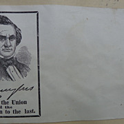 Civil War Patriotic Illustrated Envelope Cover Stephen Douglas for President
