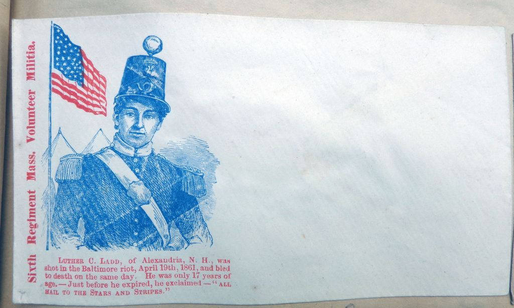 Scarce Civil War Cover Luther C.Ladd New Hampshire Soldier