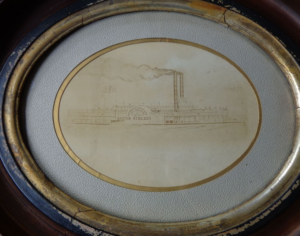 1856 Albumen Photo of Jacob Strader Riverboat Cincinnati,Ohio