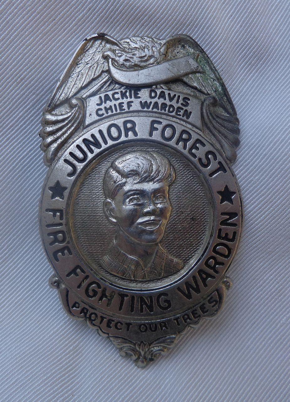 Original 1940's Junior Forest Fire Fighting Badge