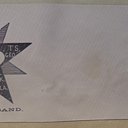 Civil War Patriotic Postal Cover Slave Contraband !