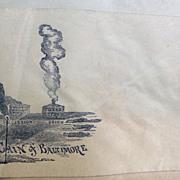 "Civil War Patriotic Illustrated Cover ""Cain of Baltimore"""