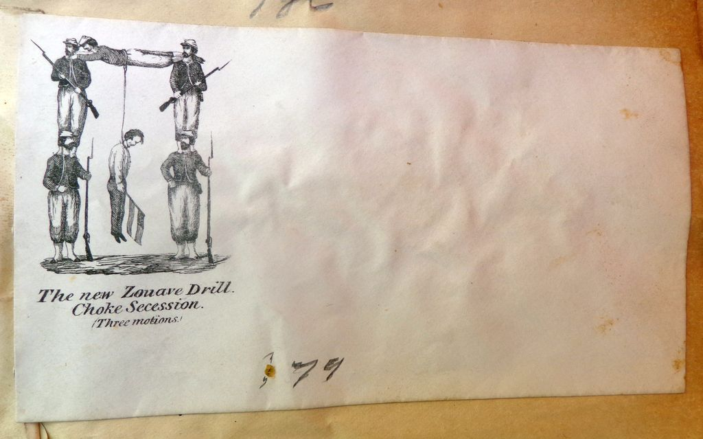 Civil War Patriotic Illustrated Envelope Cover Zouave Hanging Traitors