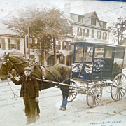 1904 Photograph of Homeyer's Dairy Wagon Wenatchee ,Washington