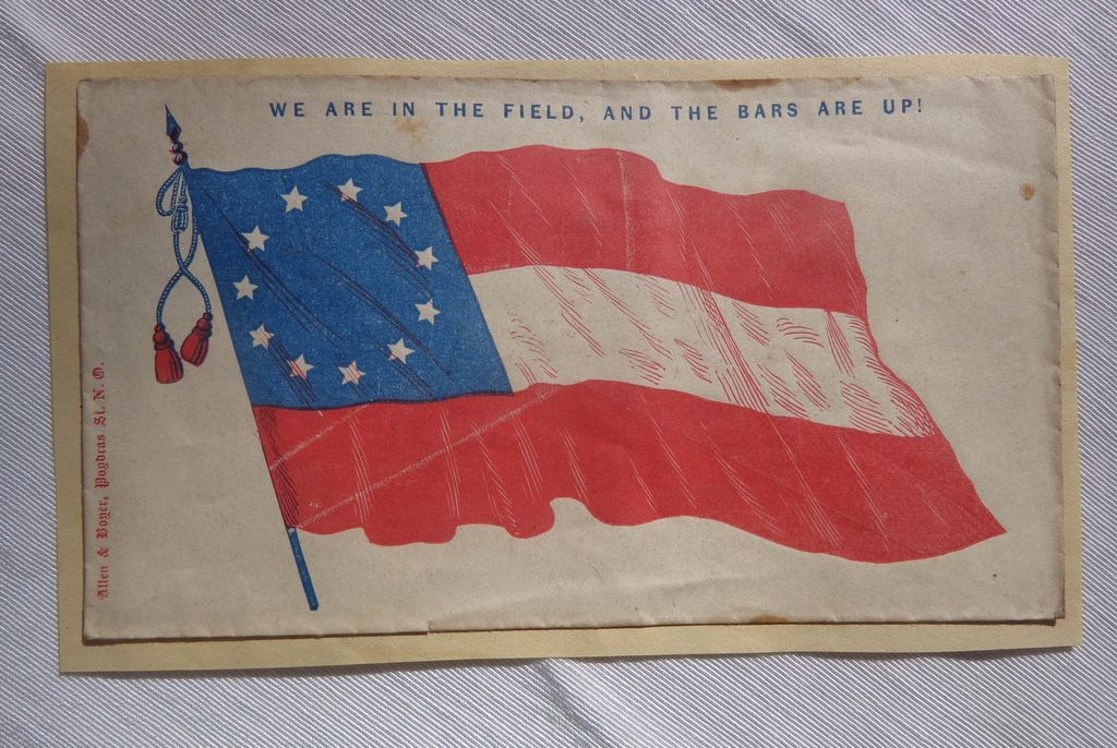 Confederate Civil War Postal Cover Published by Allen & Boyer New Orleans