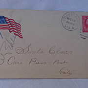 "Unique Span-Am War Patriotic Cancelled Cover  ""To Santa Claus"