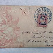Tied to Violet Brown Civil War  1862 Stamped Full Patriotic Cover