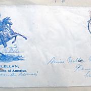 Civil War Cover George McClellan Napoleon of America Rose Pink Washington Stamp