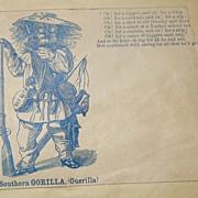 A Southern Gorilla Scarce Civil War Patriotic Cover