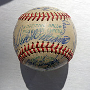 1969 Washington Senators Team Signed Baseball