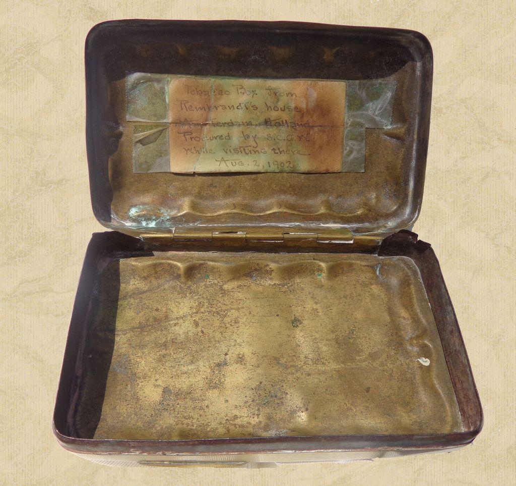 Antique Tobacco Box from Rembrandt House Museum Amsterdam,Holland
