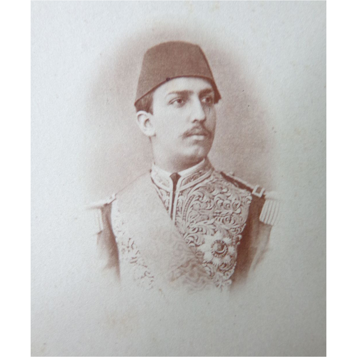 Rare CDV Photograph of Tewfik Pasha of Egypt