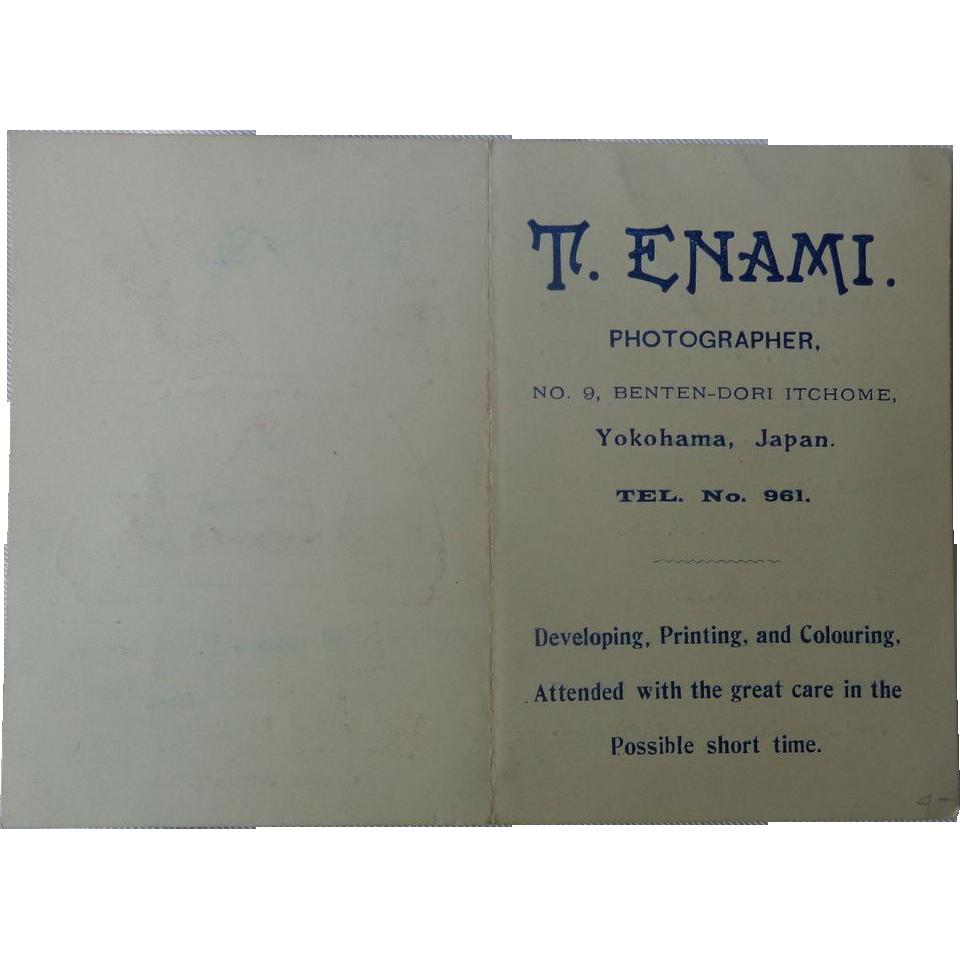 Business Card Booklet for T.Enami Photographer Yokohama,Japan