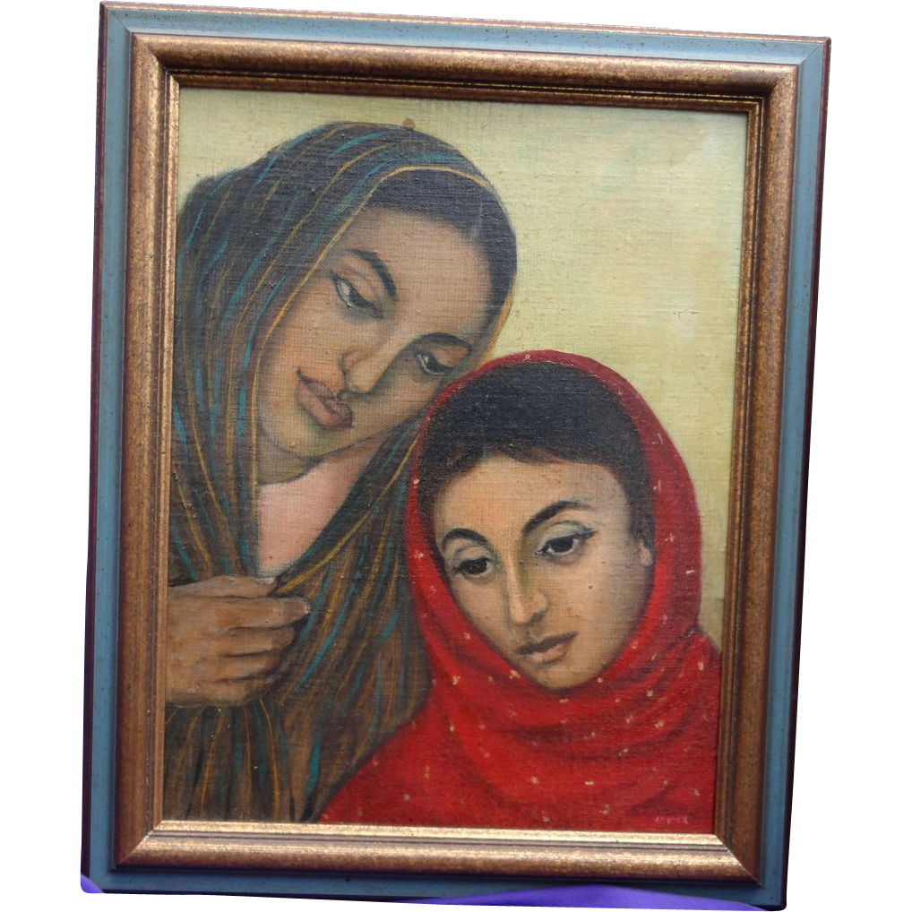 Masterpiece Oil Painting by Ester Rahim Art Counsel of Pakistan