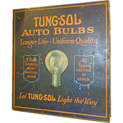 Early Tung-Sol Auto Bulbs Tin Display Cabinet
